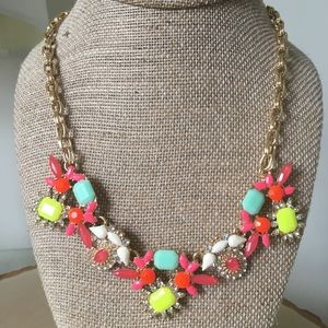 Colorful Summer Floral Necklace
